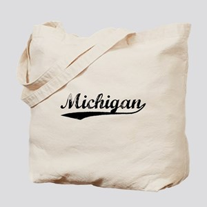 Vintage Michigan (Black) Tote Bag