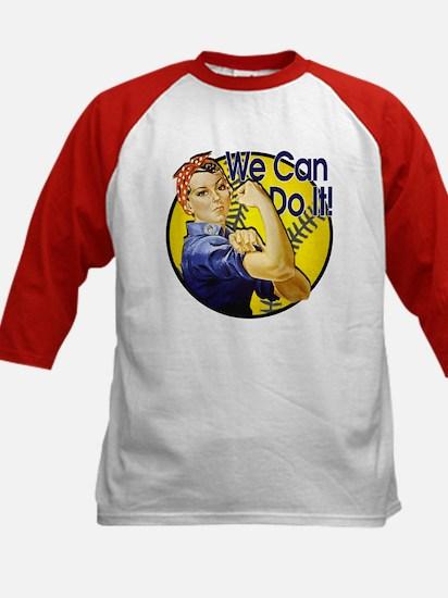 Rosie the Riveter Softball shirt Kids Baseball Jer