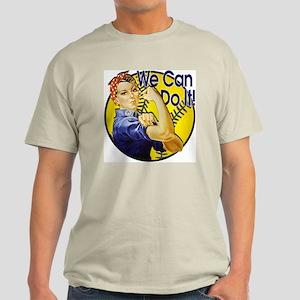 Rosie the Riveter Softball shirt Light T-Shirt