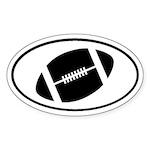 Football Gridiron Oval Sticker