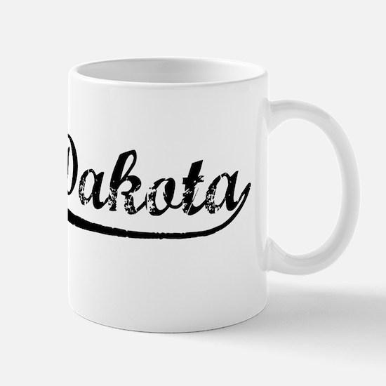 Vintage North Dakota (Black) Mug