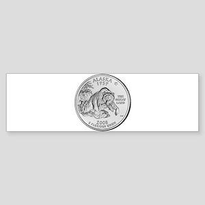 2008 Alaska State Quarter Bumper Sticker