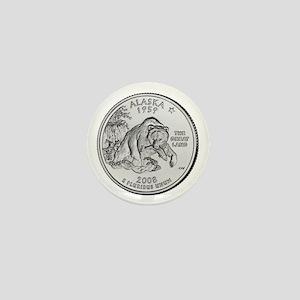 2008 Alaska State Quarter Mini Button