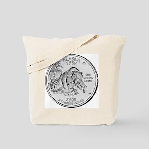 2008 Alaska State Quarter Tote Bag