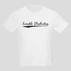 Vintage South Dakota (Black) Kids Light T-Shirt