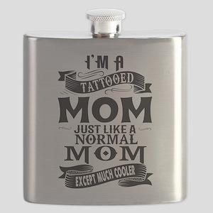 TATTOOED MOM Flask