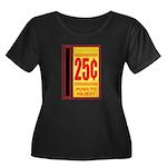 25 Cents To Play Women's Plus Size Scoop Neck Dark
