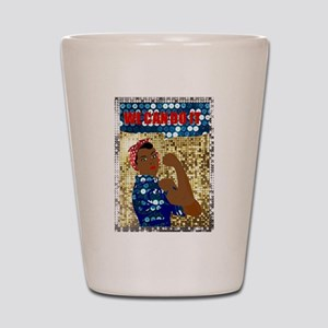 african rosie the riveter Shot Glass