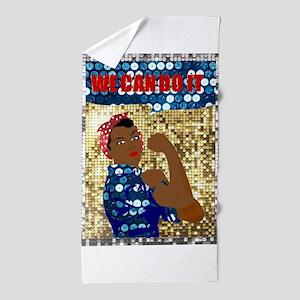 african rosie the riveter Beach Towel