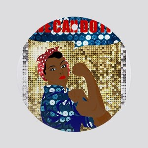 african rosie the riveter Round Ornament