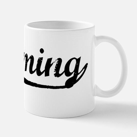 Vintage Wyoming (Black) Mug