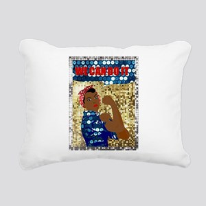 african rosie the rivete Rectangular Canvas Pillow
