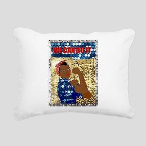 african rosie the rivete Rectangular Canvas Pillow