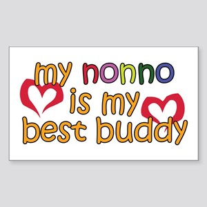 Nonno is My Best Buddy Rectangle Sticker
