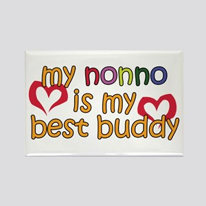 Nonno is My Best Buddy Rectangle Magnet