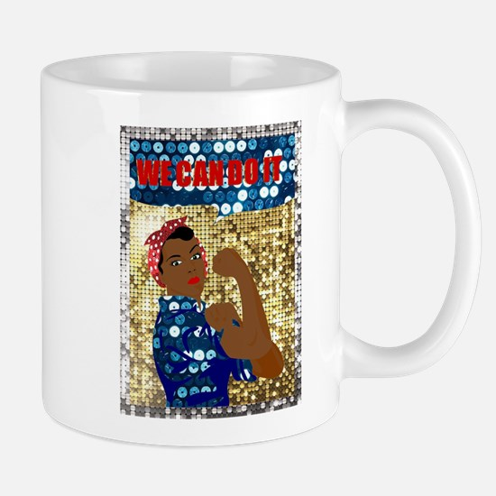african rosie the riveter Mugs