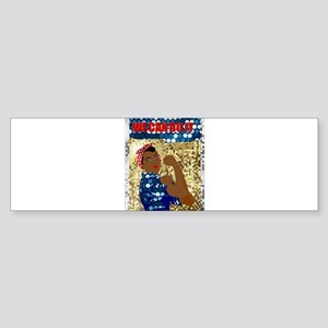 african rosie the riveter Bumper Sticker