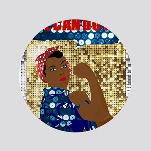 african rosie the riveter Button