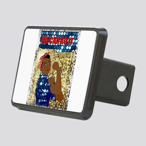 african rosie the riveter Rectangular Hitch Cover