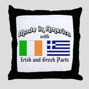 Irish-Greek Throw Pillow