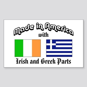 Irish-Greek Rectangle Sticker