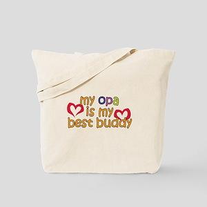 Opa is My Best Buddy Tote Bag