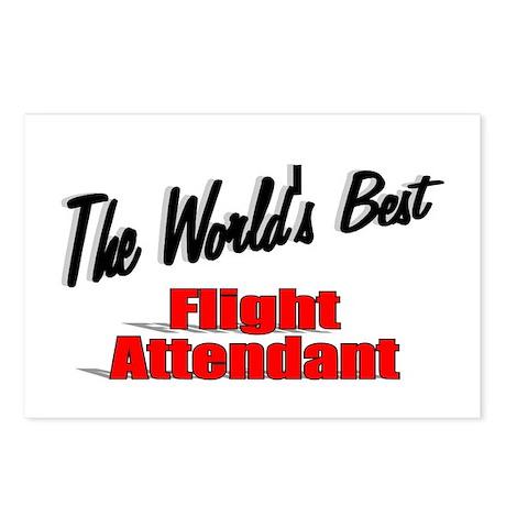 """The World's Best Flight Attendant"" Postcards (Pac"