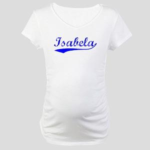 Vintage Isabela (Blue) Maternity T-Shirt