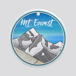 Mount Everest Round Ornament