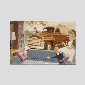 1954 GMC Panel Truck Rectangle Magnet