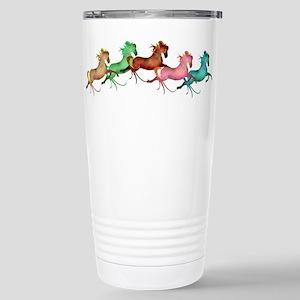 many leaping horses Large Mugs