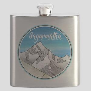 Sagarmatha Mt Everest Illustration Flask
