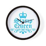 Stamp Queen BL Wall Clock