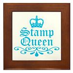 Stamp Queen BL Framed Tile