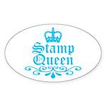 Stamp Queen BL Oval Sticker