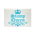 Stamp Queen BL Rectangle Magnet (10 pack)