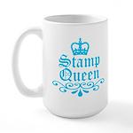 Stamp Queen BL Large Mug