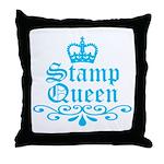 Stamp Queen BL Throw Pillow