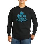 Stamp Queen BL Long Sleeve Dark T-Shirt