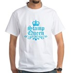 Stamp Queen BL White T-Shirt