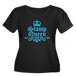 Stamp Queen BL Women's Plus Size Scoop Neck Dark T