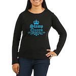 Stamp Queen BL Women's Long Sleeve Dark T-Shirt