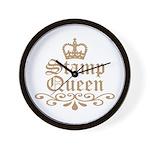 Mocha Stamp Queen Wall Clock