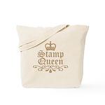 Mocha Stamp Queen Tote Bag