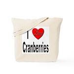 I Love Cranberries Tote Bag