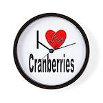 I Love Cranberries Wall Clock