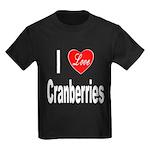 I Love Cranberries (Front) Kids Dark T-Shirt