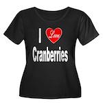 I Love Cranberries (Front) Women's Plus Size Scoop