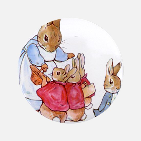 "Beatrix Potter - Peter Rabbit : Mrs. R 3.5"" Button"