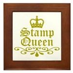 Gold Stamp Queen Framed Tile